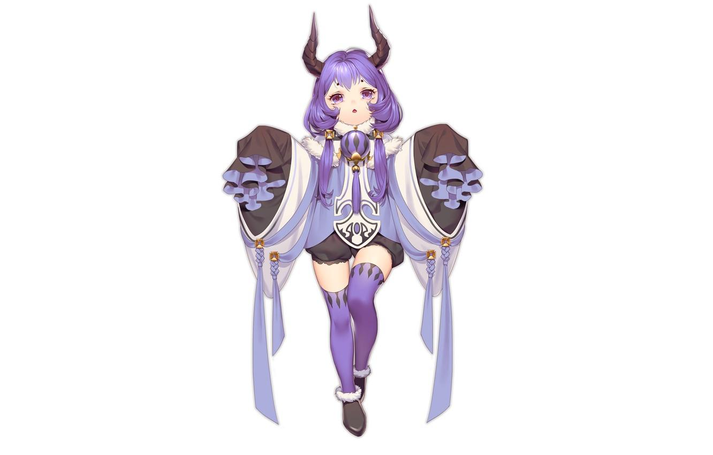 Photo wallpaper the demon, girl, horns