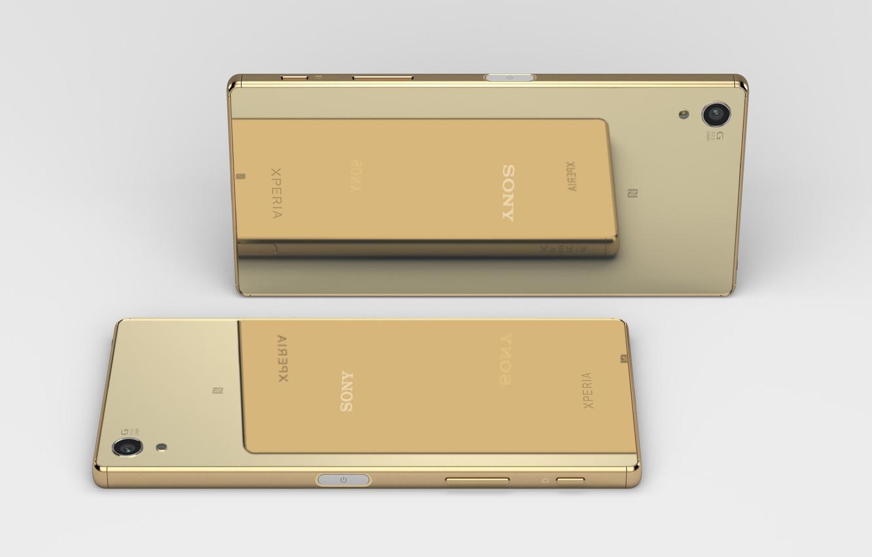Photo wallpaper SONY, Gold, Sony Xperia Z5