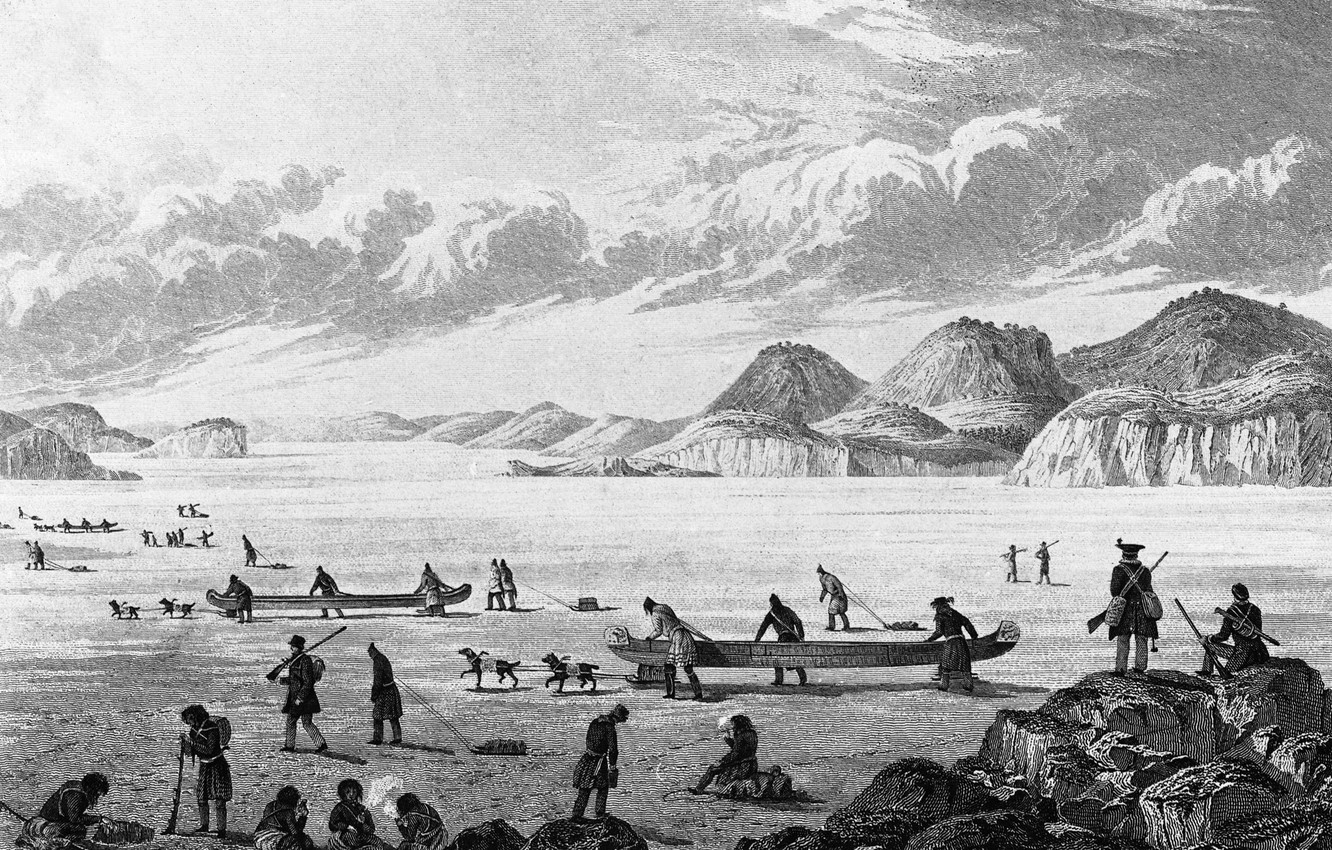 Photo wallpaper clouds, first expeditions, in the northeast, the discoverers