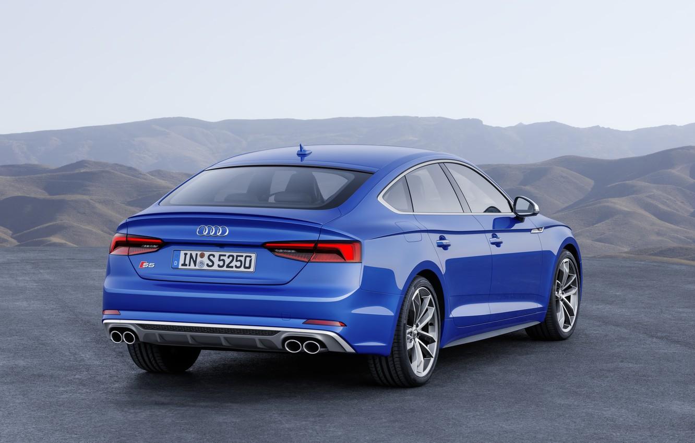 Photo wallpaper Audi, German, Blue, 2018, A5, S5