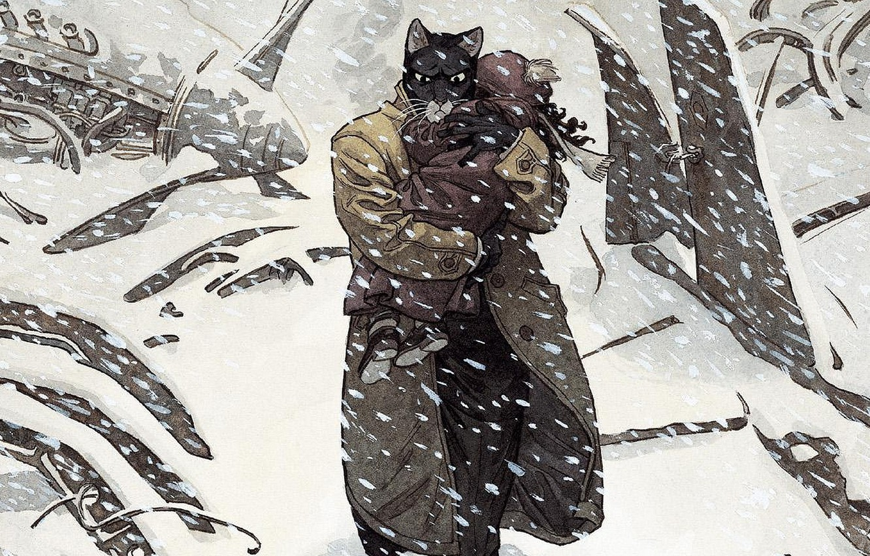 Wallpaper Cat Cat Art Detective Illustration Comics Animal Drawing Blacksad Images For Desktop Section Koshki Download