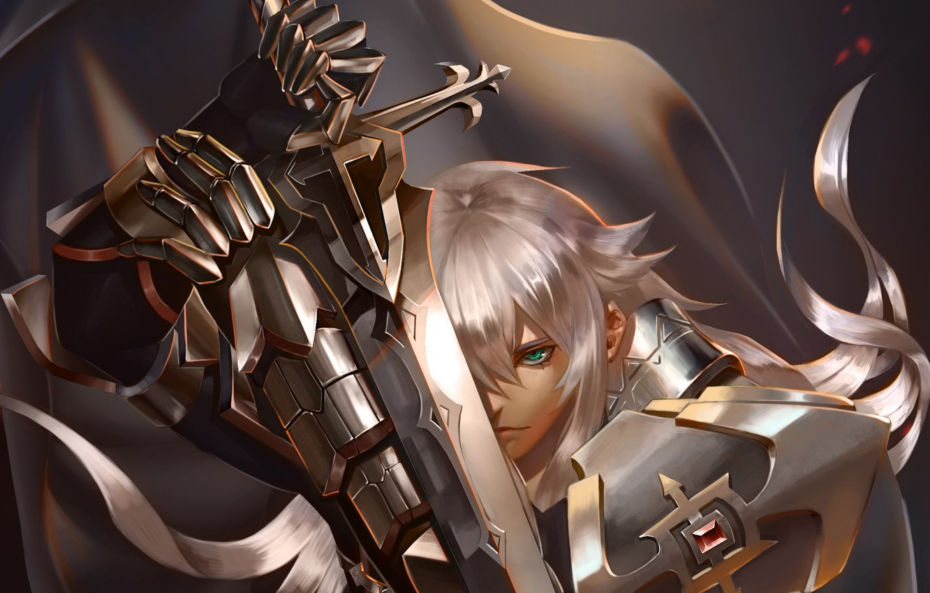 Photo wallpaper look, anime, art, fate/grand order, fate/apocrypha, Jeanne d'arc