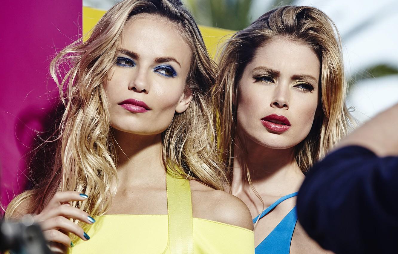Photo wallpaper girls, model, Doutzen Kroes, blonde, Natasha Poly