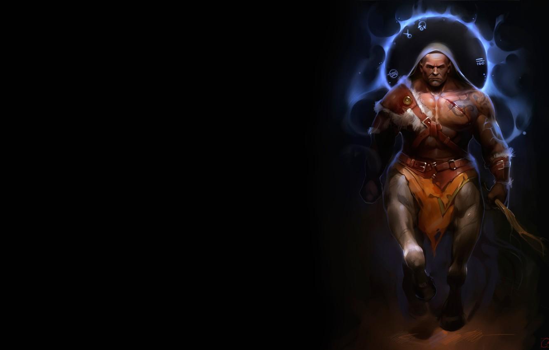 Photo wallpaper warrior, fantasy, art, centaur, Alexander Khitrov, GaudiBuendia