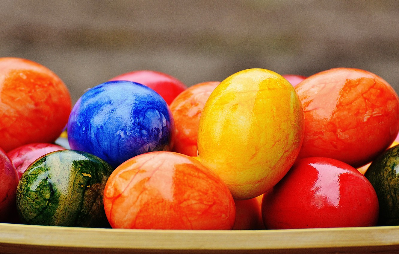 Photo wallpaper colorful, Easter, rainbow, Easter, eggs, decoration, Happy, the painted eggs