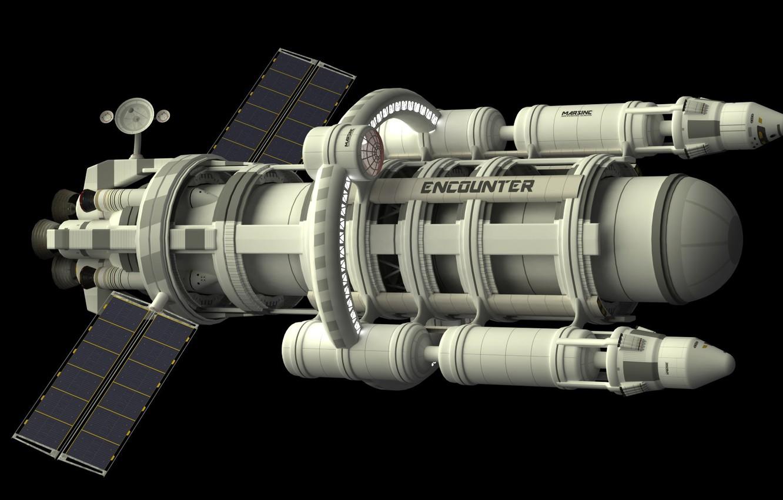 Photo wallpaper rocket, mission to Mars, ENCOUNTER