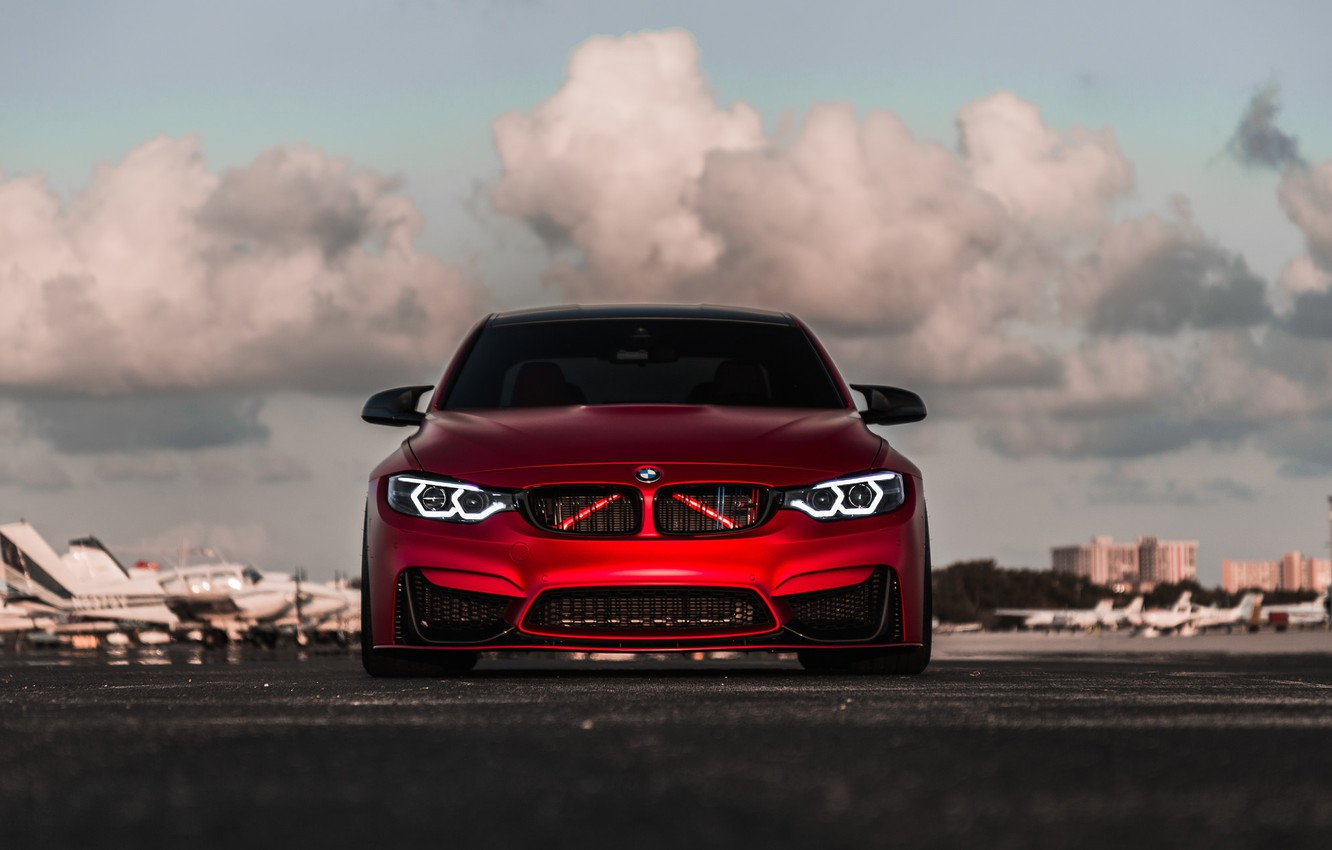 Photo wallpaper BMW, Light, Front, RED, Face, F82, Sight, LED, Evel