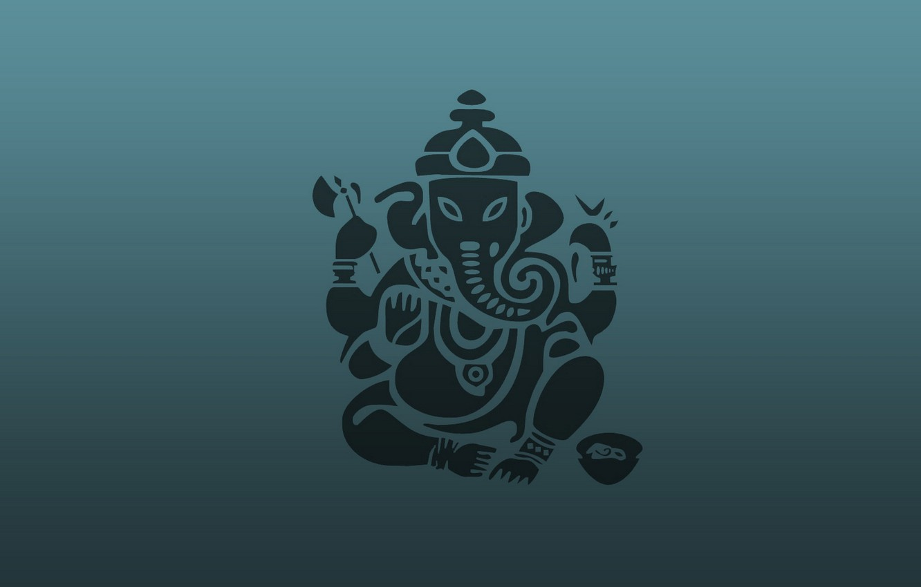 Photo wallpaper abstraction, background, elephant, Ganesh