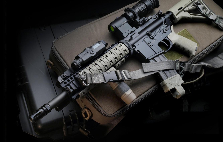 Photo wallpaper gun, weapon, assault rifle, LaRue, M4 Carbin, LaRue M4