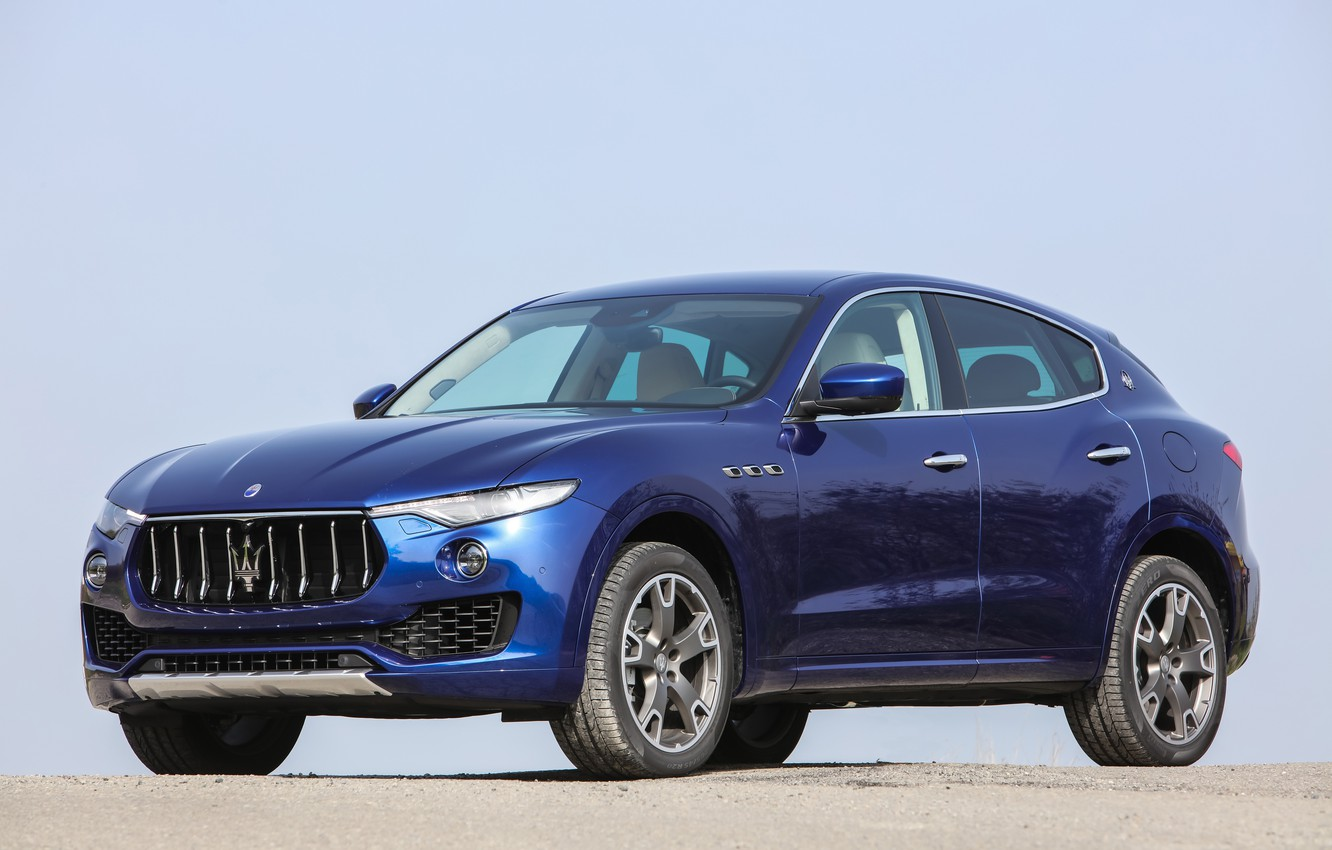 Photo wallpaper dark blue, Italian, Maserati S.p.A., levante