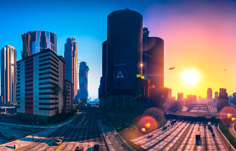 Photo wallpaper city, game, Grand Theft Auto V, GTA V, GTA 5