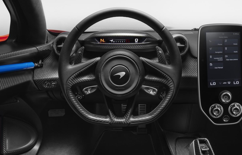 Photo wallpaper McLaren, the wheel, salon, 2018, Senna