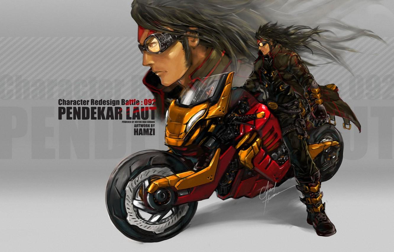 Photo wallpaper motorcycle, orange, Faid Hamzi, Sea_Tiger_by_bayanghitam