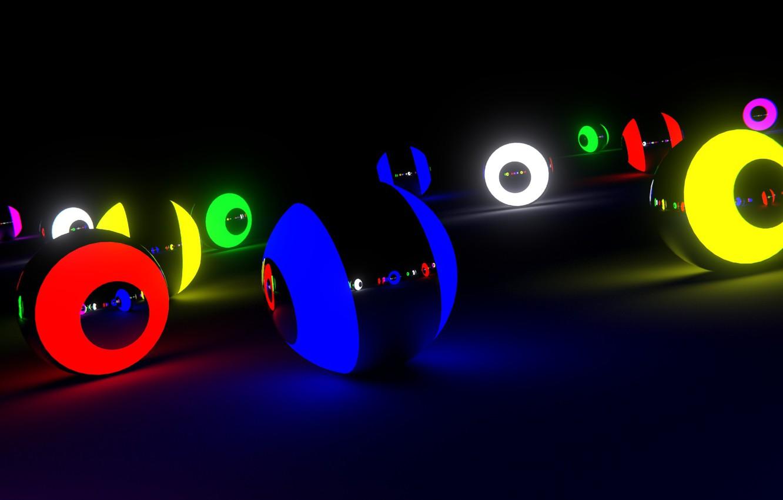 Wallpaper rendering, light, sphere, color, rendering, blender