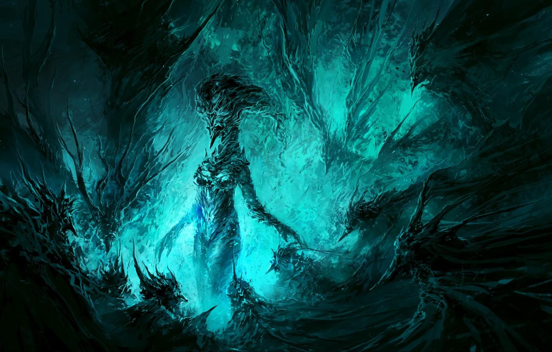 Photo wallpaper mystic, the demon, Raven, ChrisCold, Imagination, Aqua