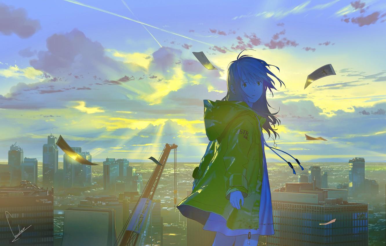 Photo wallpaper nature, anime, girl