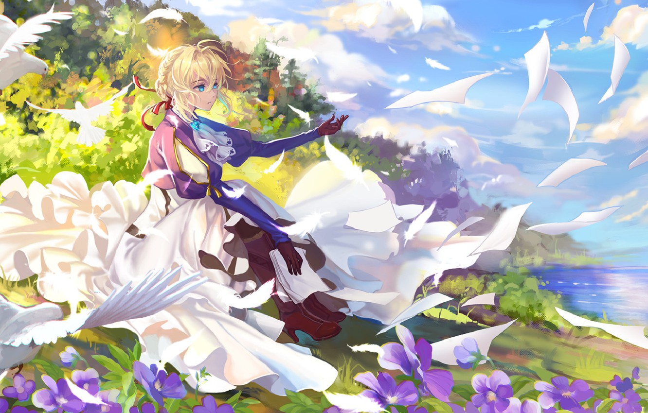 wallpaper girl blonde letters violet evergarden images for
