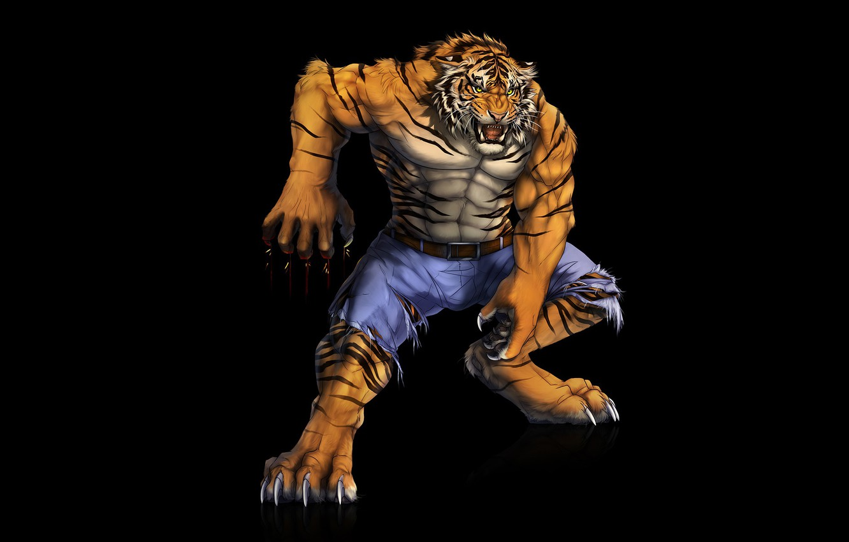Photo wallpaper tiger, predator, muscle