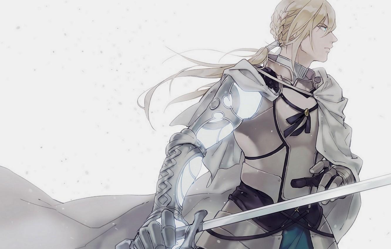 Photo wallpaper anime, art, guy, knight, Fate/Stay Night
