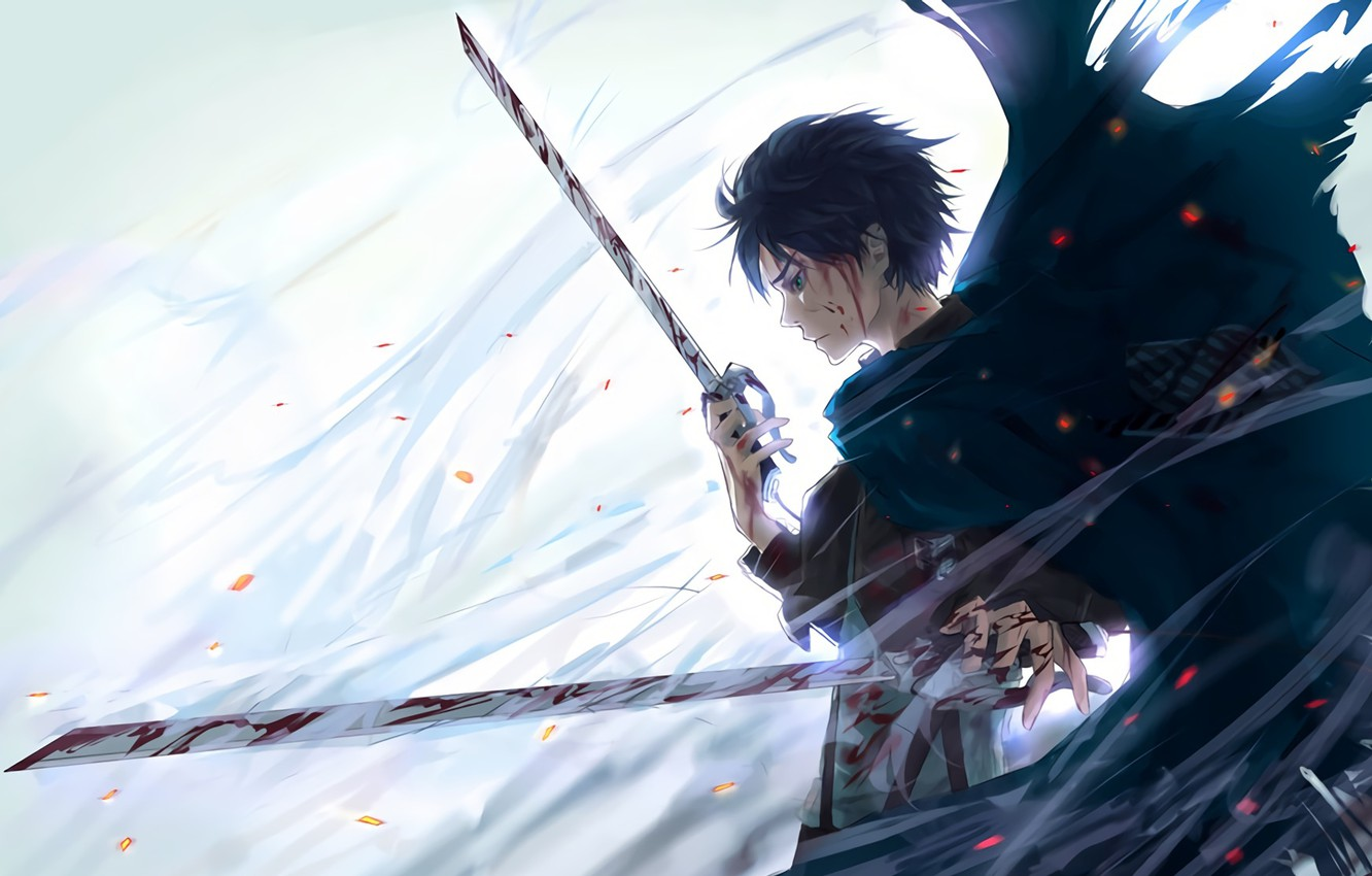 Wallpaper Anime Art Shingeki No Kyojin Eren Yeager Attack Of The
