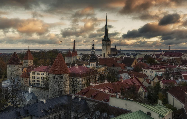 Photo wallpaper the city, Tallinn, Estonia