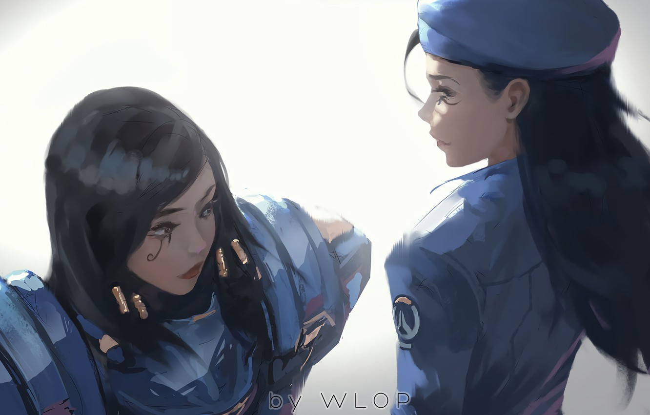 Wallpaper Game Girls Digital Art Artwork Uniform