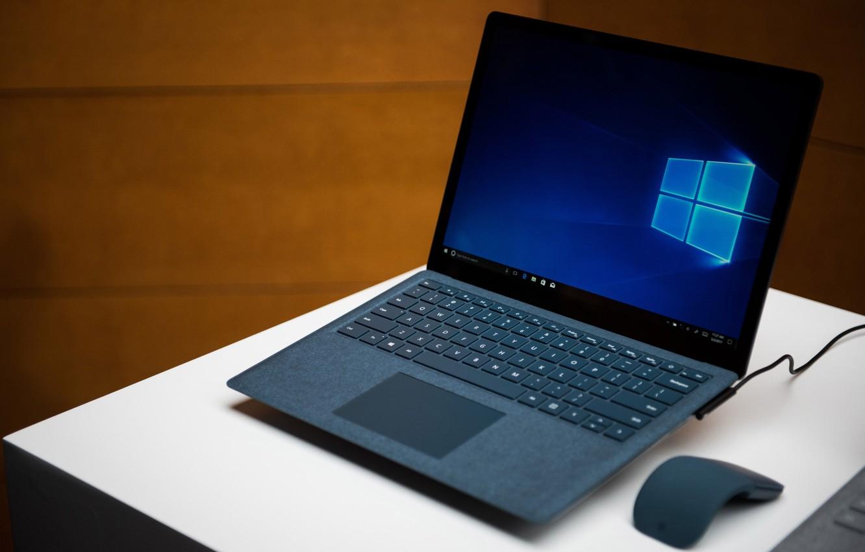 Photo wallpaper Windows, Microsoft, mouse, laptop, Microsoft Surface Laptop