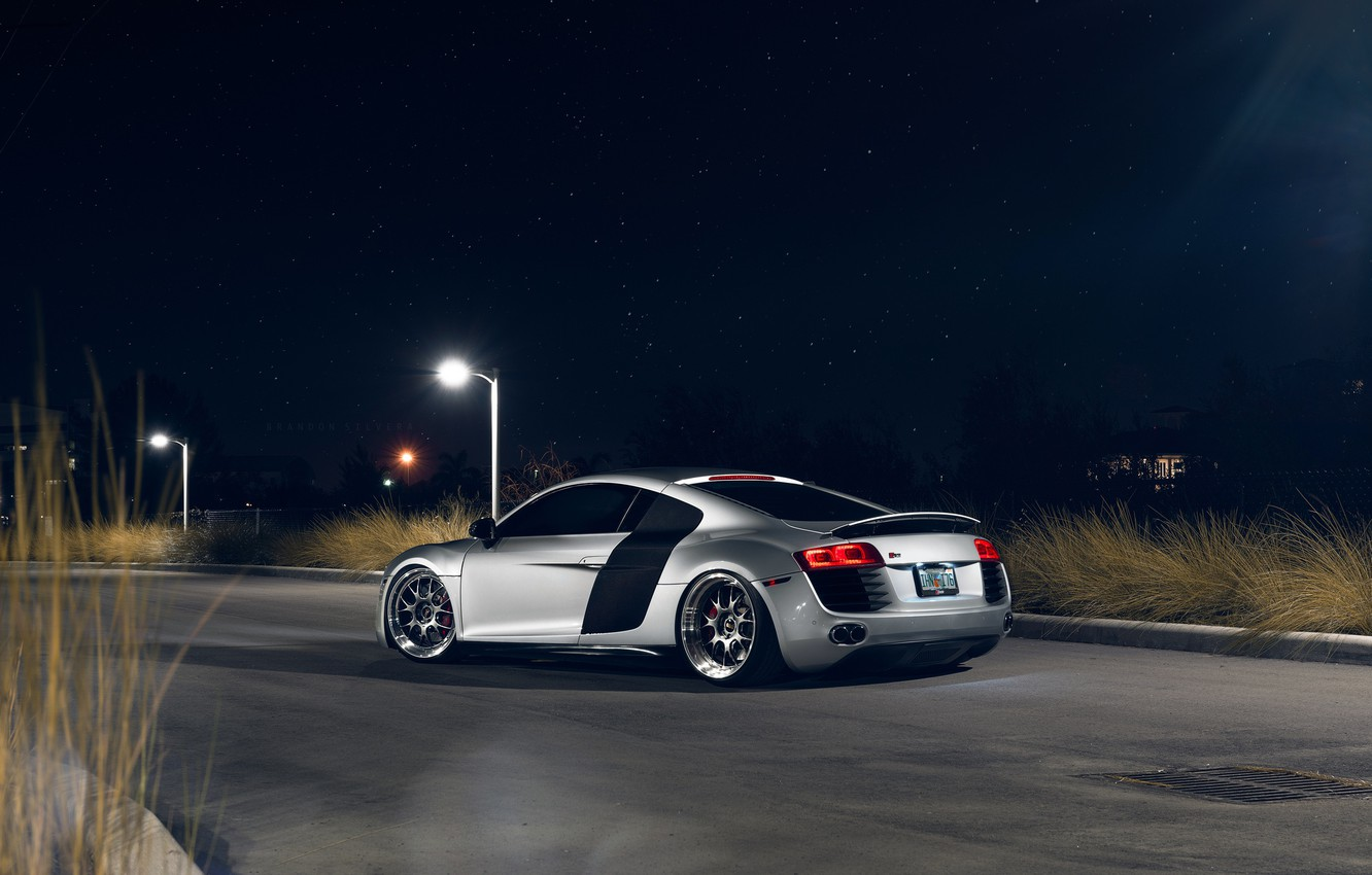Photo wallpaper Audi, Night, Rear, Superar