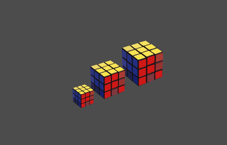 Wallpaper Macro Minimalism Three Rubik S Cube Color