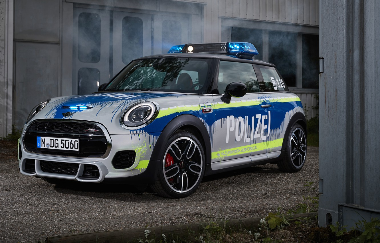 Photo wallpaper 2018, MINI, John Cooper Works, Polizei