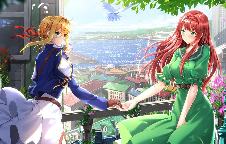 Photo wallpaper girls, anime, art, Violet Evergarden