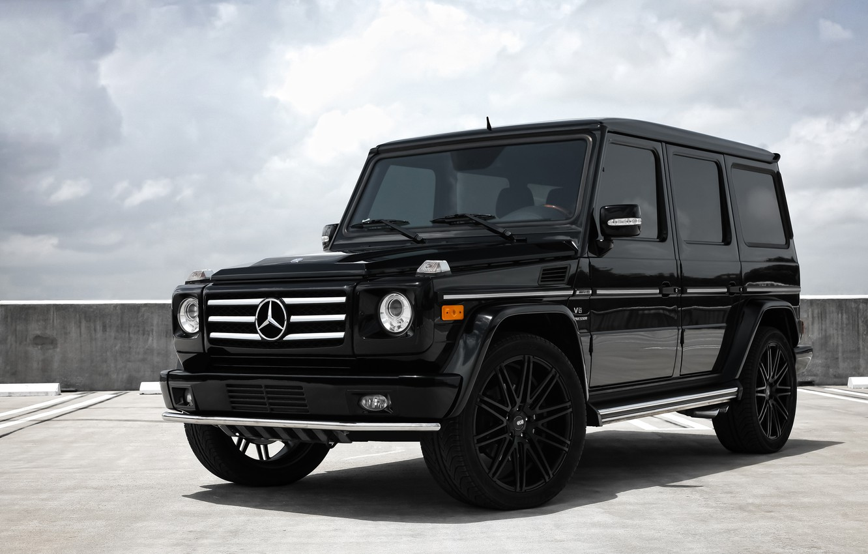 Photo wallpaper Mercedes, wheels, AMG, G55