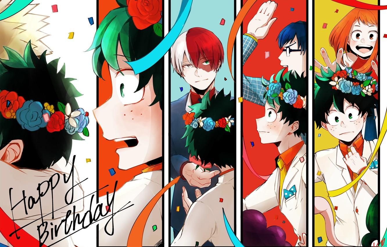 Photo wallpaper anime, art, Boku no Hero Academy, My hero Academy, Todoroki Shoto, Midori