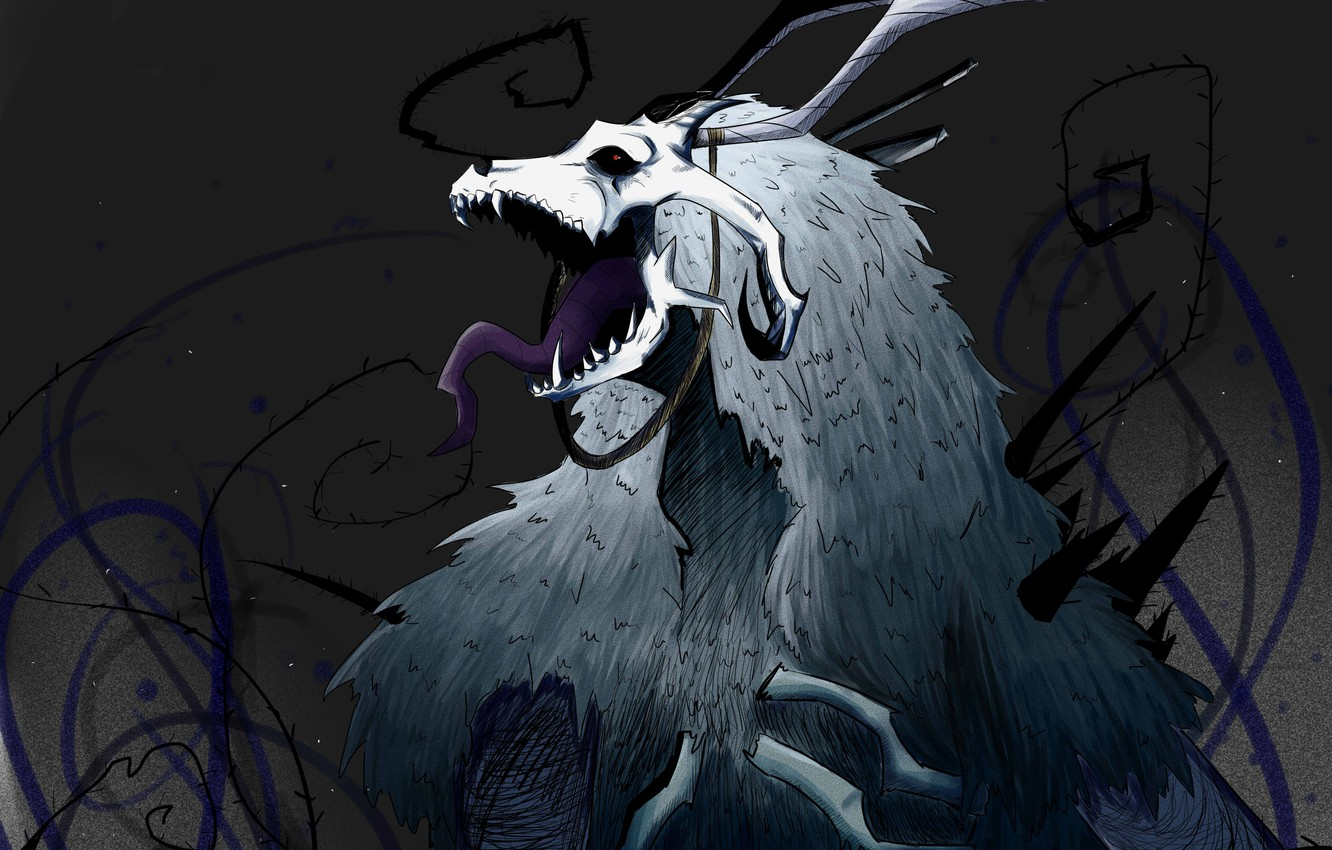 Wallpaper The Ancient Magus Bride Elias Ainsworth Skull Horns