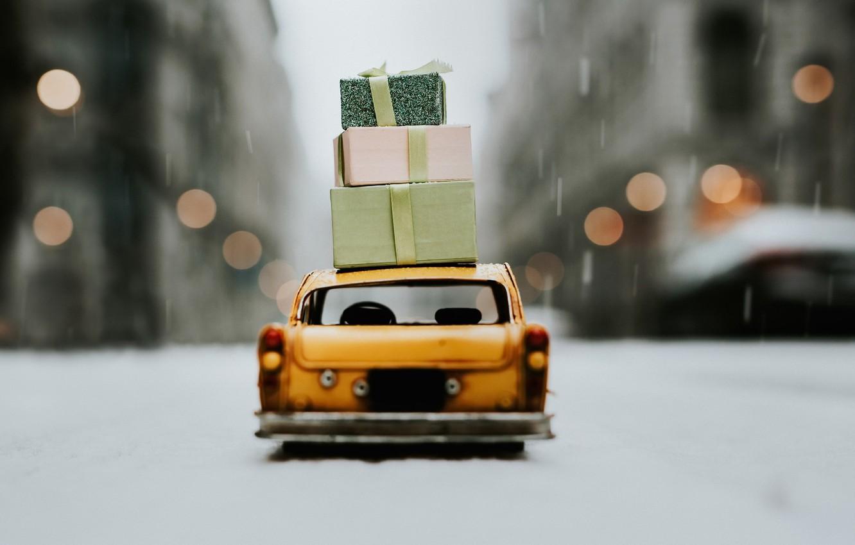 Photo wallpaper machine, background, gifts