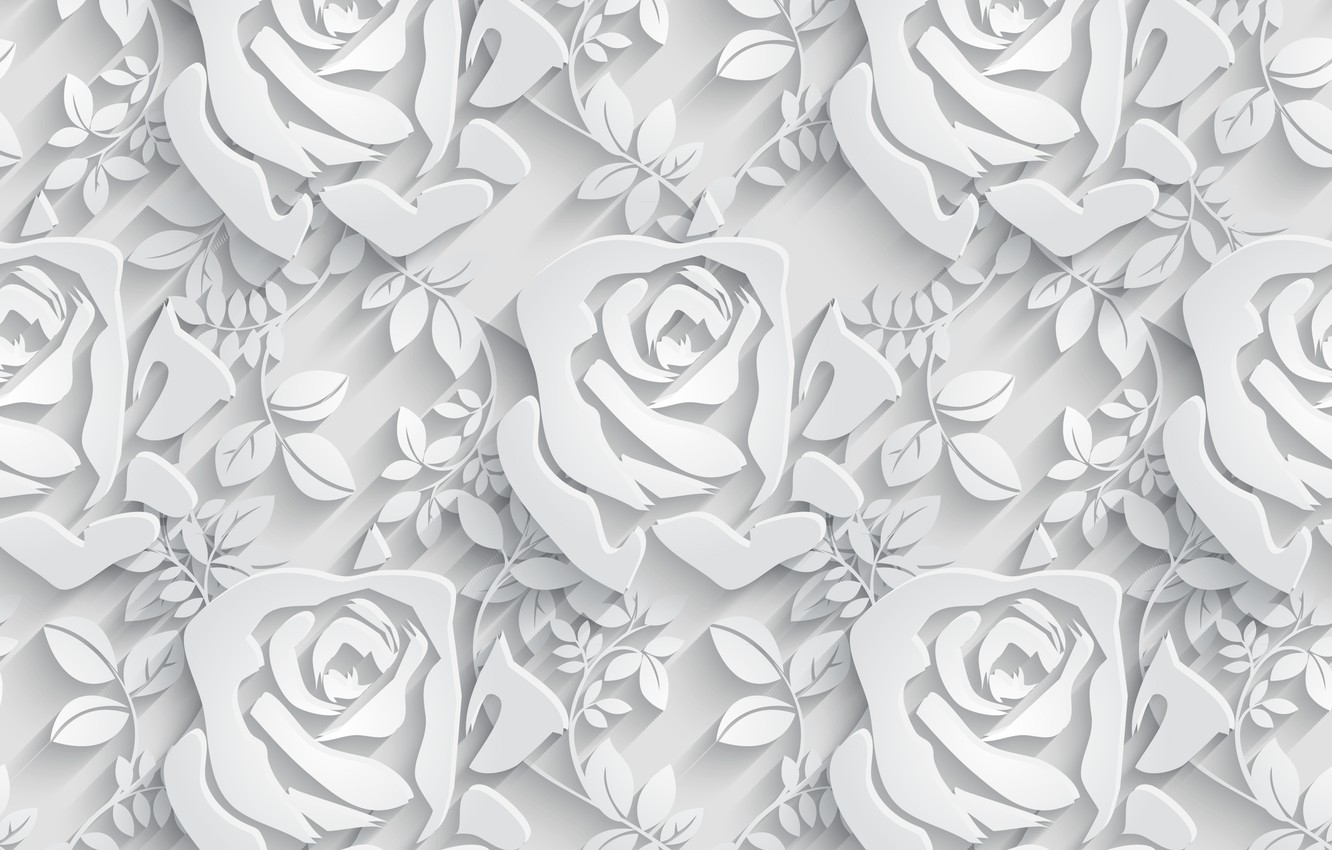 Photo wallpaper roses, Flowers, pattern, pattern, seamless, Floral, seamless