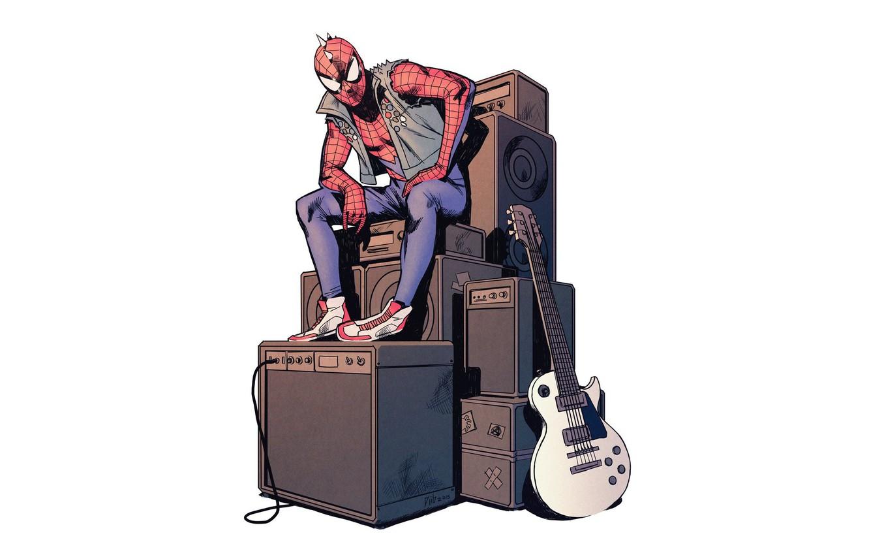 Photo wallpaper comic, Spider-man, Marvel Comics, Spider-man, Spider Punk
