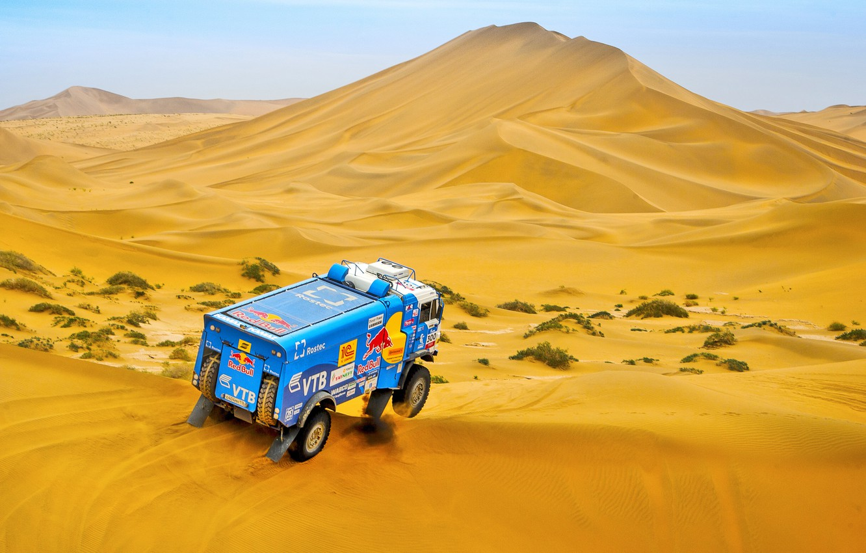 Photo wallpaper The sky, Sand, Nature, Sport, Speed, Truck, Race, Master, Beauty, Russia, Beast, 300, Kamaz, Rally, …