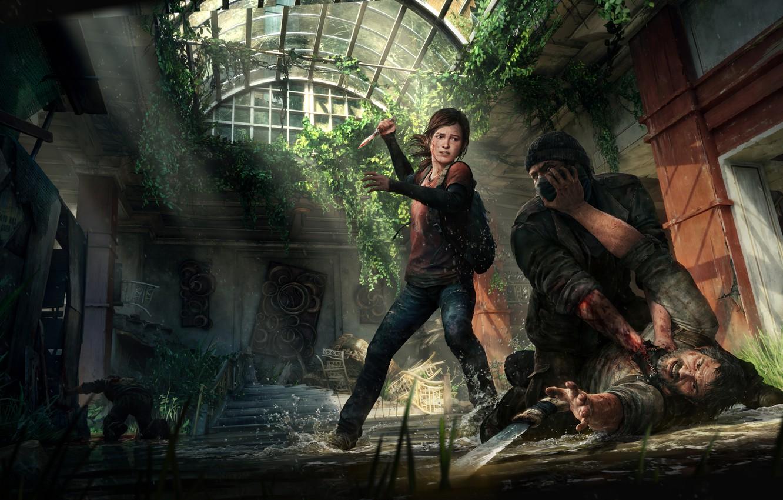 Photo wallpaper Ellie, Game, The Last of Us, Joel, Naughty Dog, Joel, Ellie, Sony Computer Entertainment, Some …