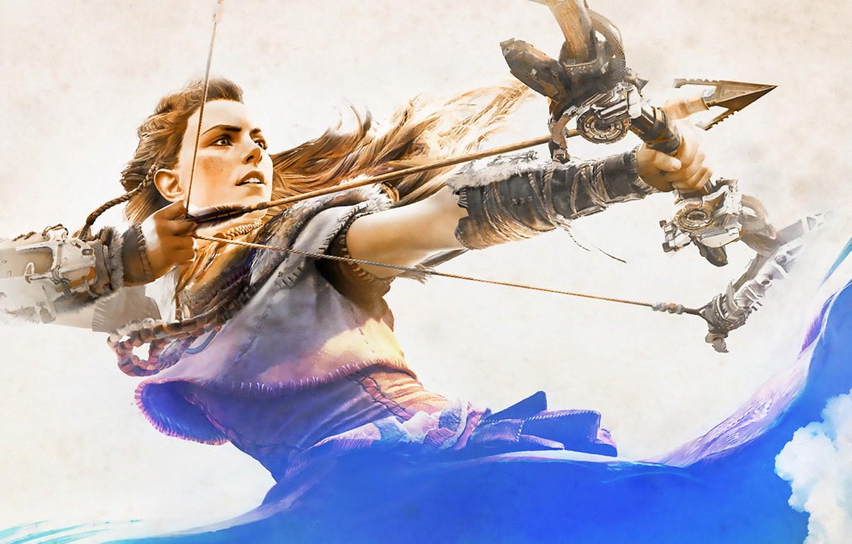 Wallpaper Girl Bow Art Hunter Horizon Zero Dawn Aloy Images