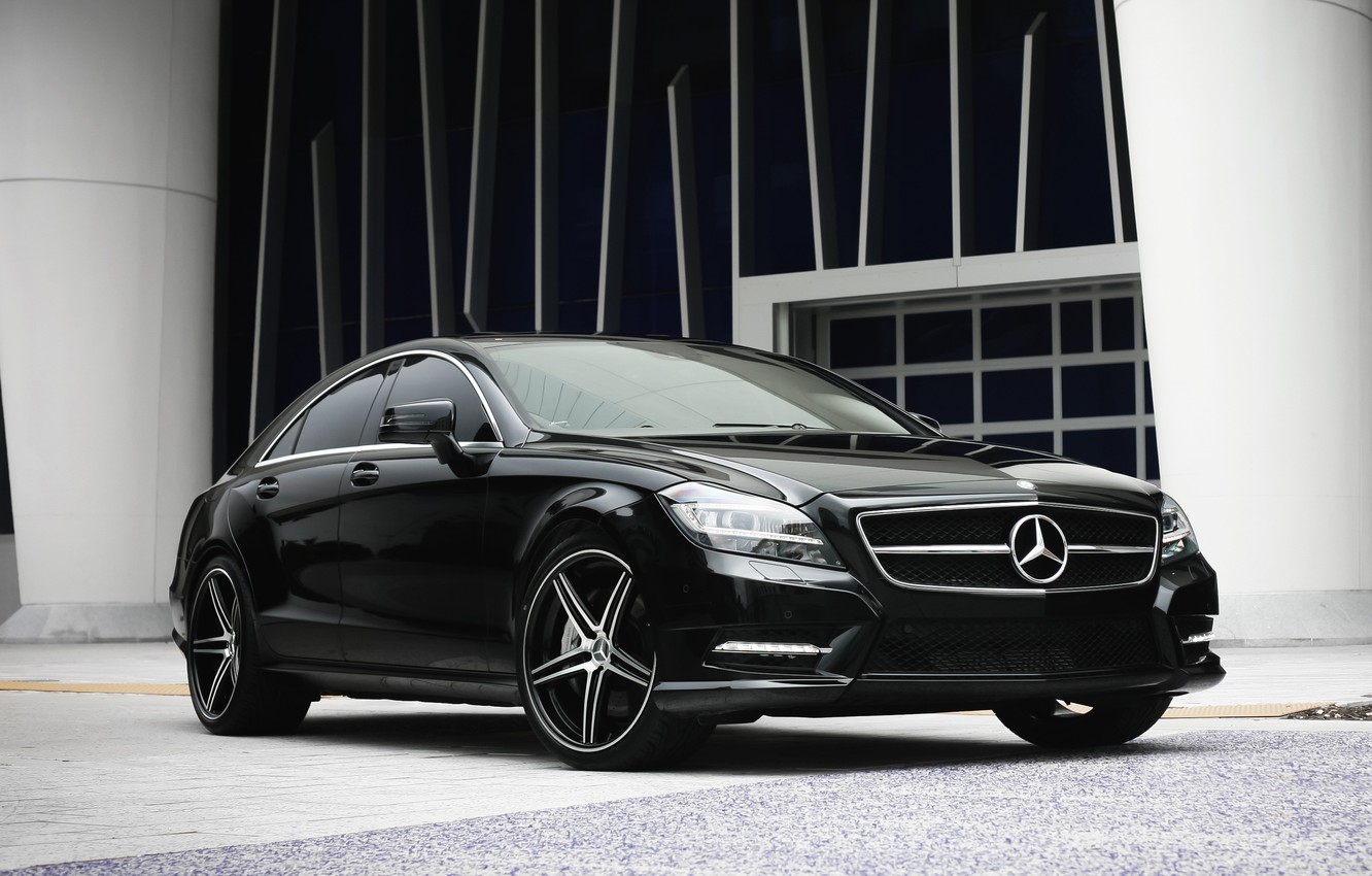 Photo wallpaper lights, Mercedes, wheels, with, CLS550, lowered, smoked, K3 Project