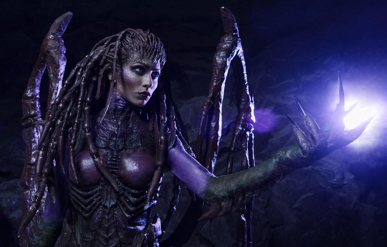 Wallpaper Game Monster Woman Alien Starcraft Ii