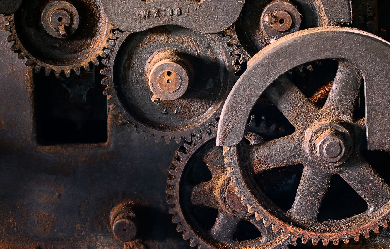 Photo wallpaper background, mechanism, rust