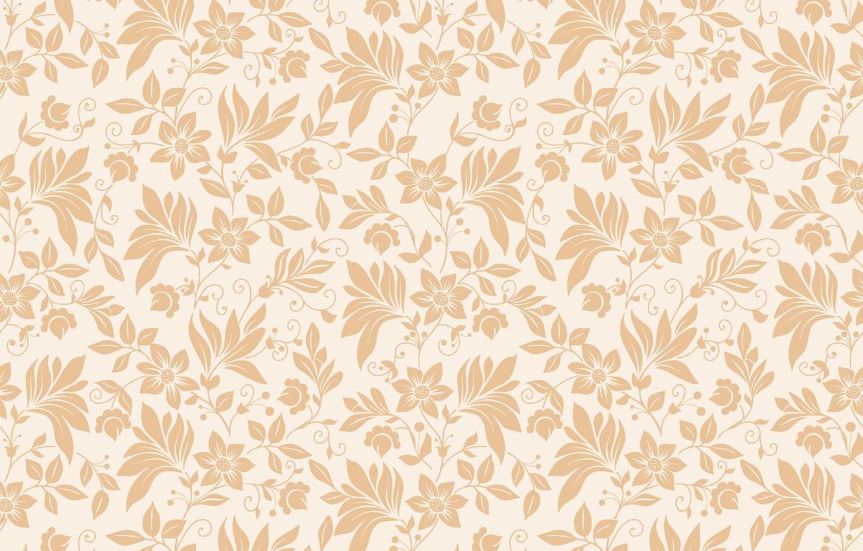 Photo wallpaper flowers, texture, ornament, seamless