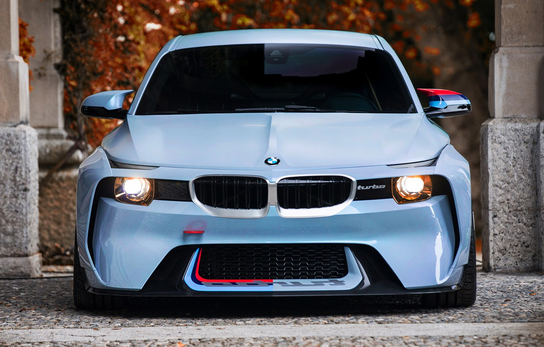 Photo wallpaper Concept, Auto, BMW, Machine, turbo, Lights, 2002, The front, New, BMW 2002, BMW 2002 Tribute …