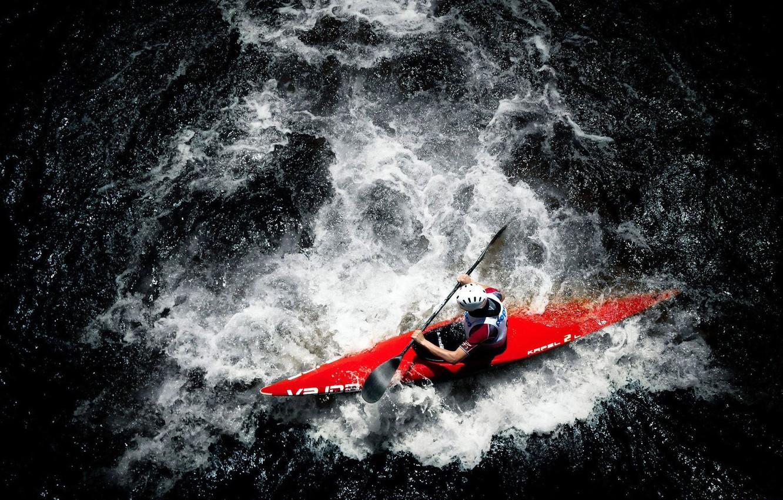 Wallpaper Water Element Athlete Kayak Rowing Kayaking