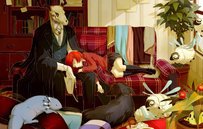 Photo wallpaper animals, room, romance, Bride of the sorcerer