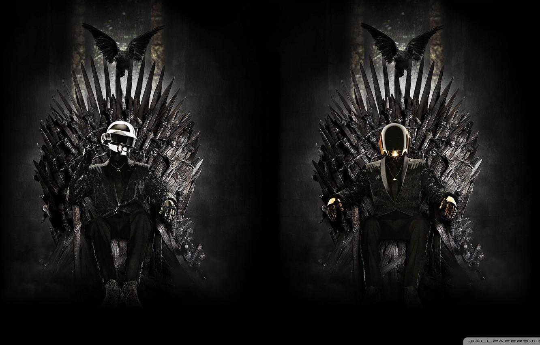 Wallpaper Music Daft Punk Game Of Thrones Iron Throne Images