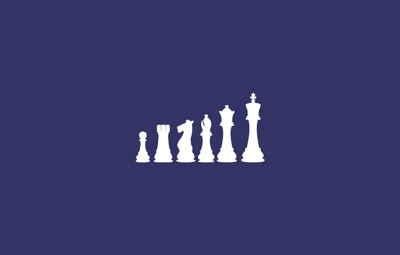 Photo wallpaper horse, elephant, chess, pawn, chess, king, rook, Queen