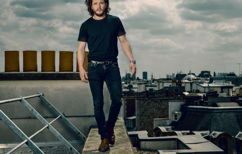 Photo wallpaper actor, male, curls, Kit Harington